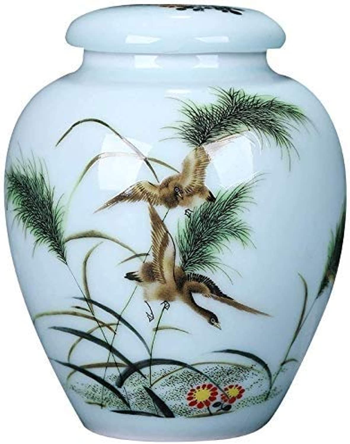 RMXMY Funeral Urn Adult Ashes, Cremation Urns for Human Ashes Adult Made in Ceramics and HandPainted Display Burial Urns At Home or in Niche