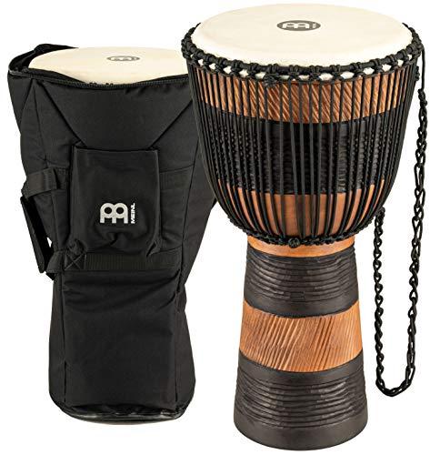 Meinl Percussion ADJ3-L+BAG - Djembe, collezione Earth Rhythm, misura grande (12'/30,48 cm), custodia inclusa, colore: Marrone