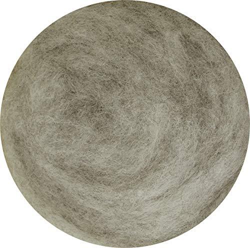 100% Laine à feutrer pour feutrage sec et humide –Gris Souris (Mix) 50g.