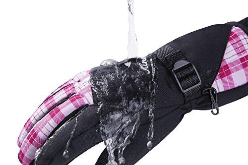 KINEED Skihandschuhe Damen Warm Winter Wasserdicht Snowboardhandschuhe Fahrrad Thermisch Thinsulate Handschuhe - 2