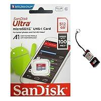 SanDisk Ultra 512GB MicroSD XC クラス10 A1 UHS-1 モバイルメモリーカード 最大100MB/s 読み取り速度 (SDSQUAR-512G-GN6MN) ミニメモリーマーケット MicroSDメモリーカードリーダー付き