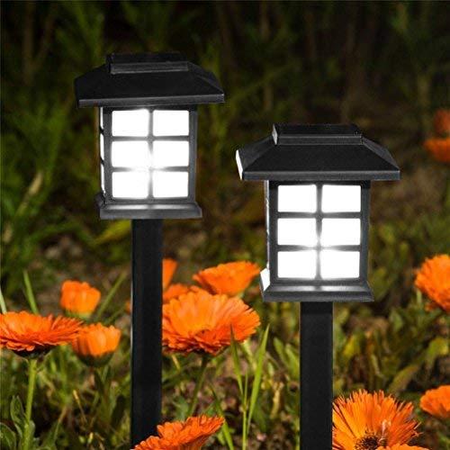 Alikey Led-verlichting op zonne-energie, 2 stuks, voor in de tuin, gazon, paden op zonne-energie, verlichting voor huis, led-lamp, anti-muggenlamp, buitenverlichting, tuinverlichting, landschapsverlichting, buitenverlichting, geleidingslicht, decoratieve verlichting