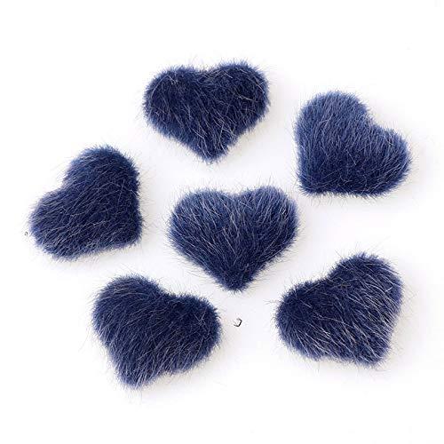 10 unids Peluche amor uñas Pom Fluffy Peluche, Poms de uñas Fluffy Lleush Ball Ball Claus 3D Pom Pom Magnetic Piel DIY desmontable, para mujeres, niñas, uñas, decoración de arte. ( Color : Blue )