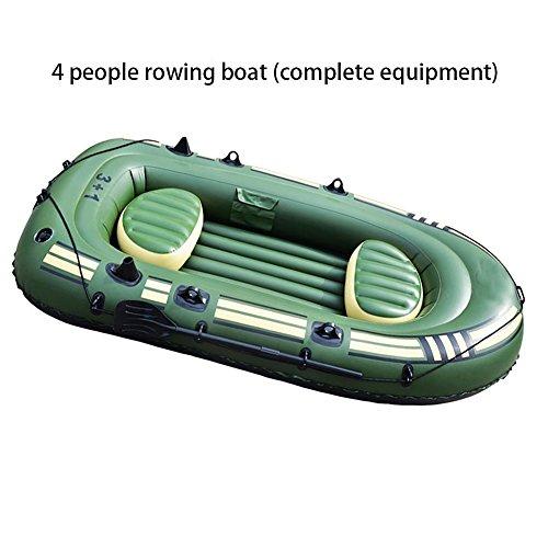 Kayak Gonfiabile,Adventure Kayak,Canoismo,canoa,4 Persone,Diversi set possono scegliere(Una serie completa di attrezzature) , 265 * 130 * 46cm400 military ship (luxury accessories)