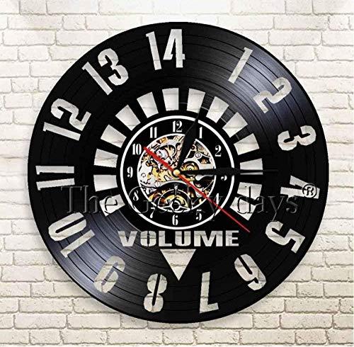 Vinyl wandklok Retro Wall Art decoratieve antieke Home Decor handgemaakte geschenken voor vriend 12 Inch 12 Inch Vinyl wandklok