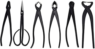 Bonsai Tool Kit, 6 Piece Bonsai Tree Scissors Shear Tool Set with Storage Bag, Garden Plant Hand Tools for Trimming Cutting