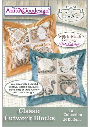 Anita Goodesign Embroidery Machine Design CD CLASSIC CUTWORK BLOCKS by...