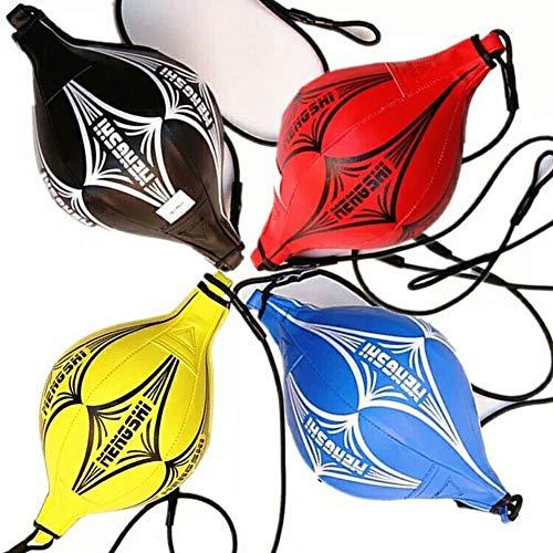 LDJ Boxball van PU-leer, om op te hangen, fitnessuitrusting, snelheid, bokszak, fitnessbal
