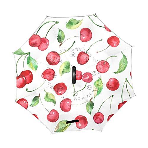For Sale! TropicalLife Double Layer Inverted Umbrella Cherry Fruit Reverse Umbrella