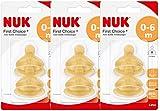 Nuk 10120014 Latex-Trinksauger First Choice+, Größe 1 (0-6 Monate) M, 3er Pack (3 x 2er Blister)