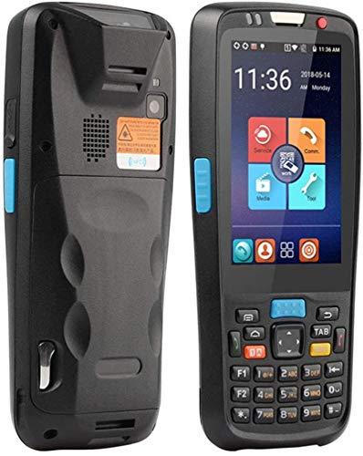 Fangfang Terminal Handheld PDA, Android 5.1 Handheld-Mobilterminal mit Honeywell N6603 2D-Scanner für QR-Zebra-Barcode, 5.0MP-Kamera, NFC, WiFi, Bluetooth, 4G, für Unternehmensdatenerfassung, schwarz