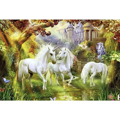 GuDoQi Puzzle 1000 Piezas Adultos Rompecabezas Madera Unicornios Paraíso para Infantiles Adolescentes