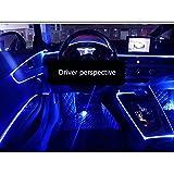 Yxp Auto-Kaltlicht LED-Autoinnen Atmosphäre Lampe Kaltlichtlampe Atmosphäre Lampe Innen Licht Emittierende Linie Mittelkonsole Dekoration Lampe,Multi Colored