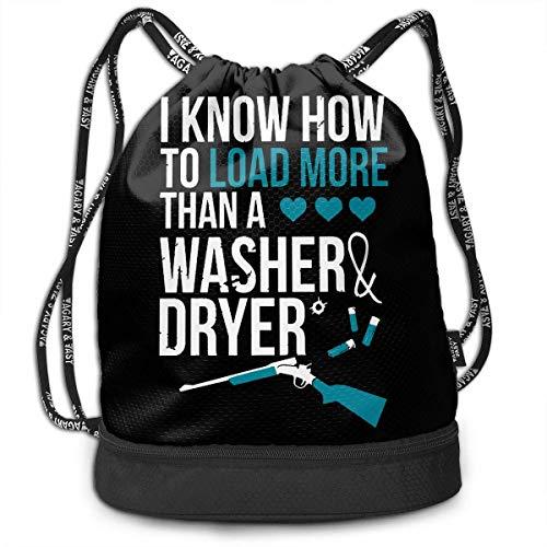 Petrichor Yi Ich weiß, wie Man mehr als eine Waschmaschine und einen Trockner packt. Rucksack Lustiger Reiserucksack