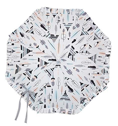 Sombrilla para carrito con protección solar CERTIFICADA+Flexo Universal Tipis y plumas