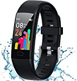 Inspiratek Kids Fitness Tracker for Girls and Boys (Age 5-16) - Waterproof Fitness Watch for Kids with Heart Rate Monitor, Sleep Monitor, Calorie Counter and More - Kids Activity Tracker (Black)