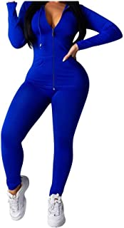 Howely Womens Athletic Long Sleeve Top and Skinny Bodycon Pants 2 Piece Set