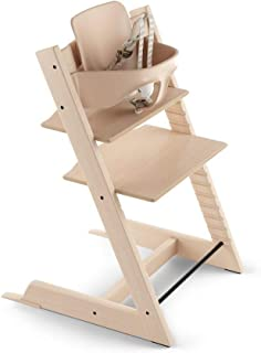 Stokke 2019 Tripp Trapp High Chair, Includes Baby Set, Oak White