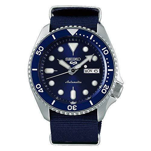 Seiko 5 Sports Automatikuhr für Herren mit NATO-Armband, Blau, SRPD51K2.