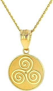 gold triskele pendant