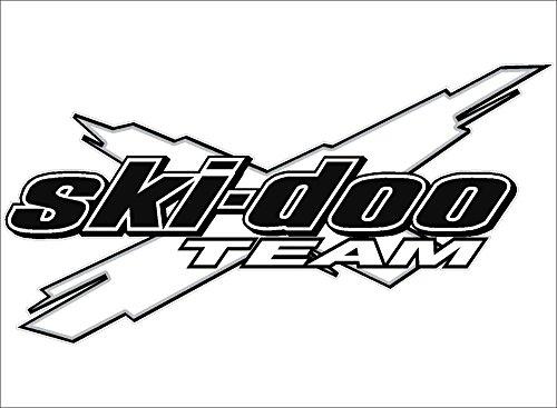 Ski-Doo Team 3DX / White/Vinyl Vehicle Decal Snowmobile Winter Gear Graphic Sticker (18x36)