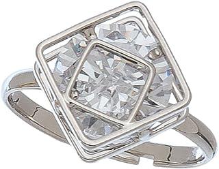 Dazzlers Howard 方块设计方晶锆石可调节戒指
