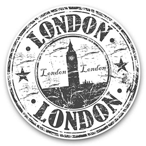 Impresionantes pegatinas de vinilo (juego de 2) 25 cm bw – Londres Reino Unido Inglaterra Gran Ben Travel Divertidos calcomanías para portátiles, tabletas, equipaje, reserva de chatarras, neveras, regalo genial #40307