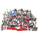 MAJOZ 270 pièces Jouets Modèles Soldats Avion Tank Bureau de l'armée en Plastique Jeux de Simulation Jouet Enfant