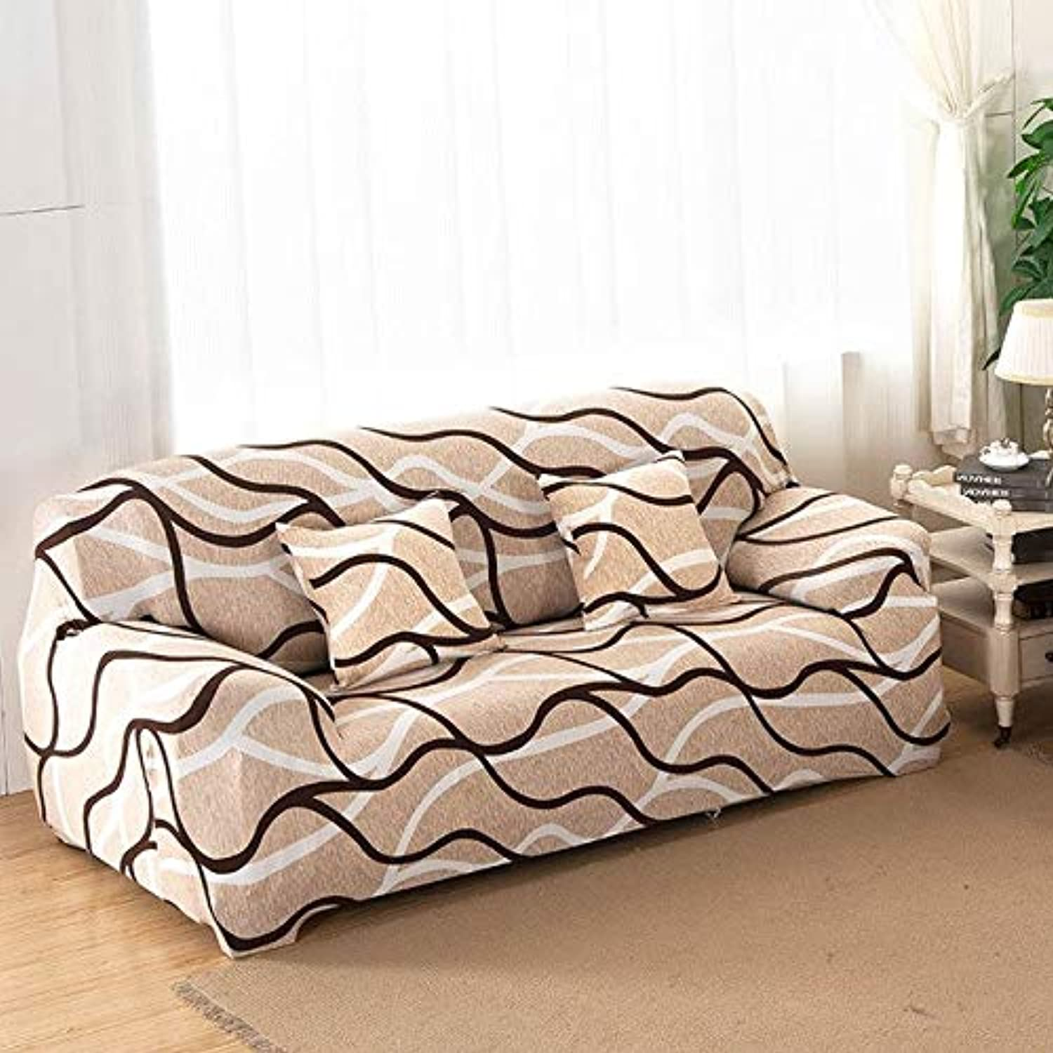 Universal Three Seater Sofa Cover for Lig Room Tight Seat Cover Slipcover Stretch Couch Cover on The Corner Sofa Blanket   6, Single Seater