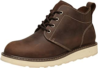 Ommda Męskie buty z prawdziwej skóry Chukka