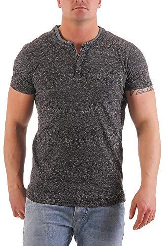 NO EXCESS Herren T-Shirt Double Y-Neck 80350208 (M)