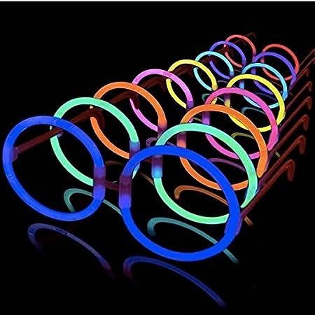 La Vida en Led 10 Gafas Luminosas Glow Hippie Redondas