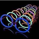 La Vida en Led 50 Gafas Luminosas Glow Hippie Redondas