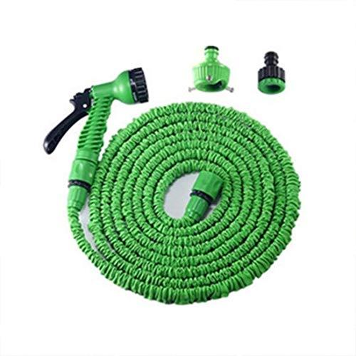 Juego de pistolas de spray de tubería de manguera de jardín - 12.5-37.5m, manguera de riego de jardín Telescópico telescópico, utilizado para regar plantas en el patio, lavado de coches, mascotas duch