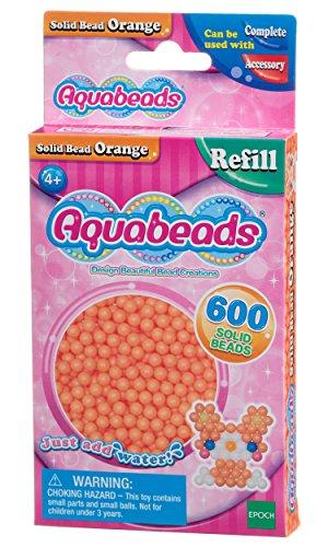 Aquabeads - Recharge Perles Orange - 32518 - Recharge Couleur - Loisirs Créatifs