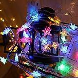 Zorara Cadena de Luces - Guirnalda Luces 6M 40 LED - Guirnalda Luces Pilas Estrella - Decoración Interior, Jardines, Casas, Boda, Fiesta de Navidad [Clase de eficiencia energética A+++]