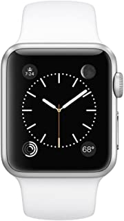 Apple Watch Sport 42mm with Silver Aluminum Case and White Sport Band - MJ3N2LLA (Renewed)
