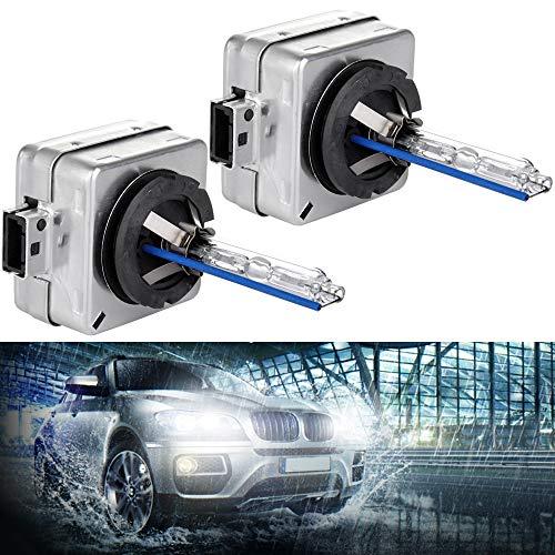 LUJUNTEC D1S LED Headlight Bulbs 8000Lumen Super Bright LED Headlights Conversion Kit 6500K Cool White Light Portable Pack of 2