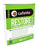 Cafetto Restore Espresso Machine Descaler, Coffee Machine Cleaning Powder for Use In Organic Systems (4 Single Use Packets)