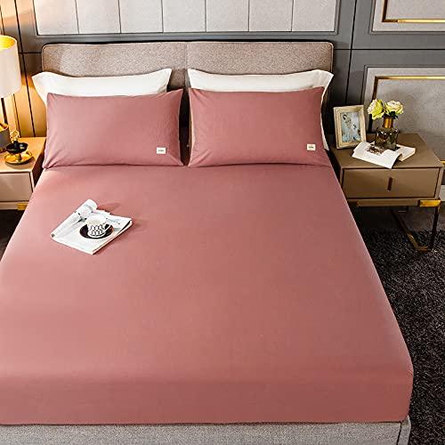 HAIBA Protector de colchón de algodón extra profundo para falda lateral, tamaño superking: algodón de calidad de hotel, extra comodidad y protección, 120 x 200 cm+28 cm