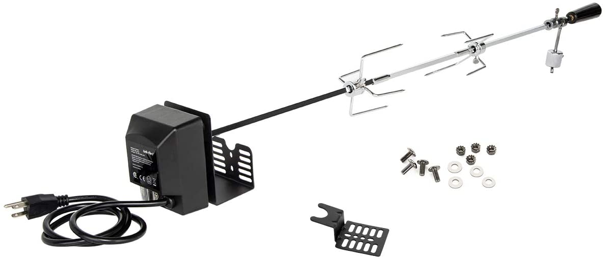 onlyfire Universal Rotisserie Dedication Kit All stores are sold Grilling Accessory BBQ for