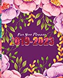 2019-2023 Five Year Planner: Purple Floral Cover for 60 Months Calendar Planner Agenda And Organizer 8' x 10' with holidays
