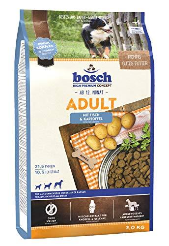 bosch HPC Adult | con Pescado y Patata | Comida seca completa para perros adultos de todas las razas | 3 kg
