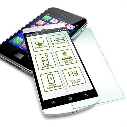 Wigento Premium 0,3 mm extrem dünne Härte H9 Schutzfolie Panzerglas Schock Folie für Huawei Honor 4C / G Play Mini Zubehör