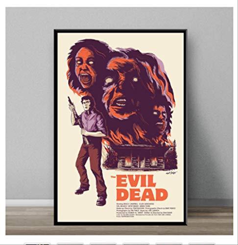 DPFRY Leinwand Malerei Evil Dead Klassische Horrorfilm Kunst Malerei Leinwand Poster Wand Dekoration Mw2T 40X60 cm Ohne Rahmen