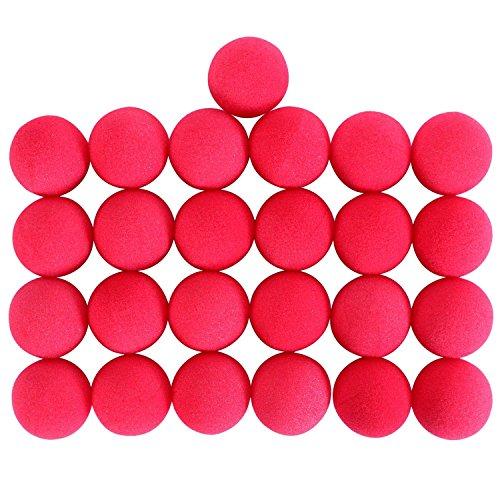 BeatlGem - 25 narices de espuma roja para disfraz de payaso