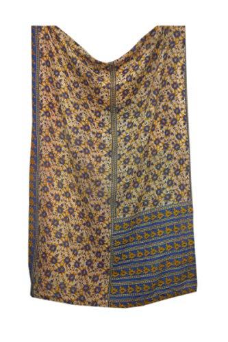 Trade Star – Colcha Kantha Bordada a Mano, Manta étnica Reversible para recámara, Colcha India auténtica, Manta Vintage para sofá