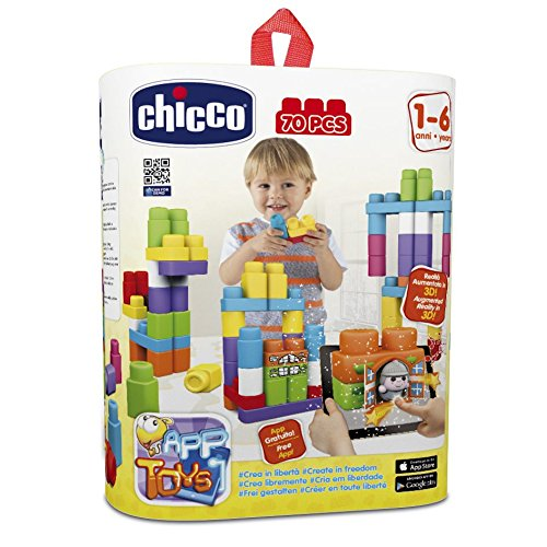Chicco - Jeu De Construction - Set - App Blocks - 70 Pièces
