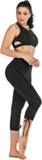 Helisopus Women's High Waisted Cropped Capri Athletic Yoga Dance Leggings Tights with Side Drawstring