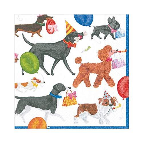 Hund Party Cocktail Servietten Papier Servietten Hund Geburtstag Party Winston 20er-Packung mehrfarbig